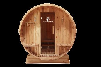 Barrel Sauna - Side View